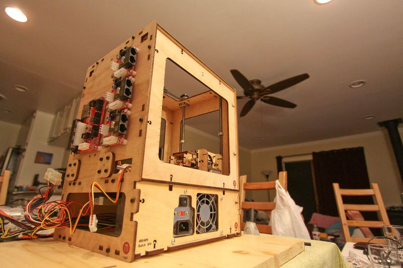 Cupcake CNC partially assembled